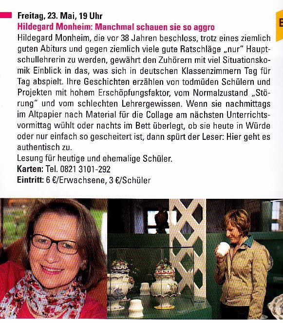 Aus dem Jahresprogramm von Schloss Höchstädt